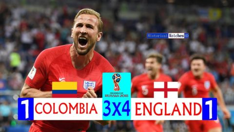 Colombia 1(3) × (4) 1 England FIFA World Cup 2018  Extended HighLight Full HD?English commentary?