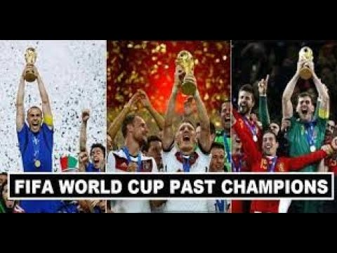 Comparison of football world cup winners list from 1930 to 2018
