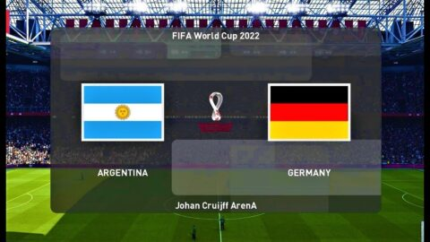 PES 2020 | ARGENTINA vs GERMANY | FIFA WORLD CUP 2022 | Match Gameplay